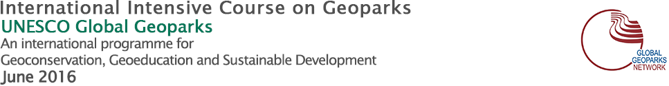 International Intensive Course on Geoparks 2016