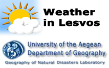The weather in Lesvos island from the Natural Disasters Laboratory of the Aegean University