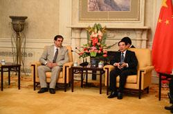 Συνάντηση με τον Δήμαρχο του Πεκίνου και τον Υφυπουργό Φυσικών Πόρων της Κίνας