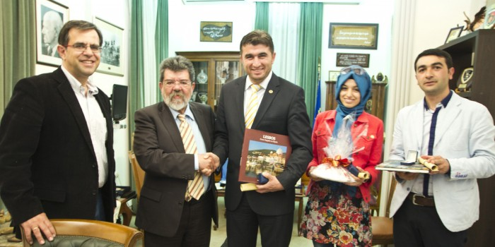 O Δήμαρχος και επικεφαλής του Γεωπάρκου Kula από την Τουρκία επισκέπτεται την Λέσβο