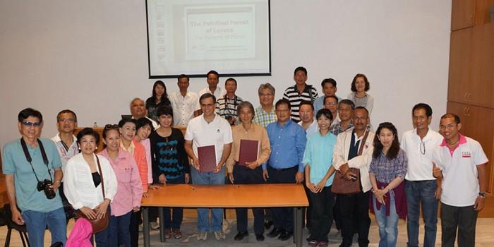 Επίσκεψη στο Μουσείο Φυσικής Ιστορίας Απολιθωμένου Δάσους Λέσβου και το Γεωπάρκο Λέσβου υψηλόβαθμης αντιπροσωπείας από την Ταϊλάνδη