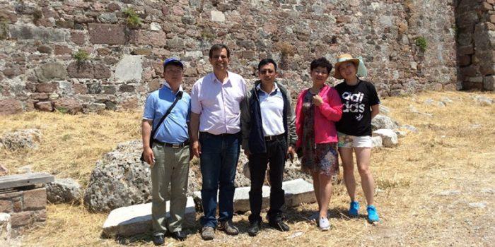 Πενταμελής αντιπροσωπεία  από το Γεωπάρκο Zhijindong Cave UNESCO Global Geopark στη Λέσβο