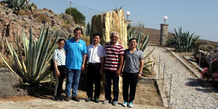 Υψηλόβαθμη αντιπροσωπεία από το Γεωπάρκο Wudalianchi της Κίνας  στη Λέσβο