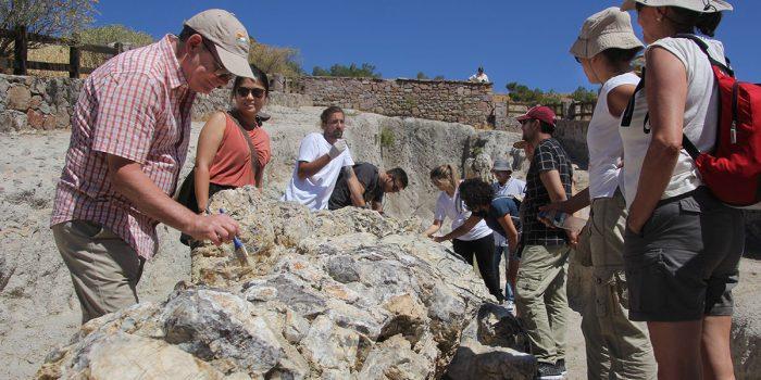 Αυτοψία του επικεφαλής του Τομέα Γεωεπιστημών της UNESCO στο έργο συντήρησης απολιθωμάτων στο Απολιθωμένο Δάσος Λέσβου