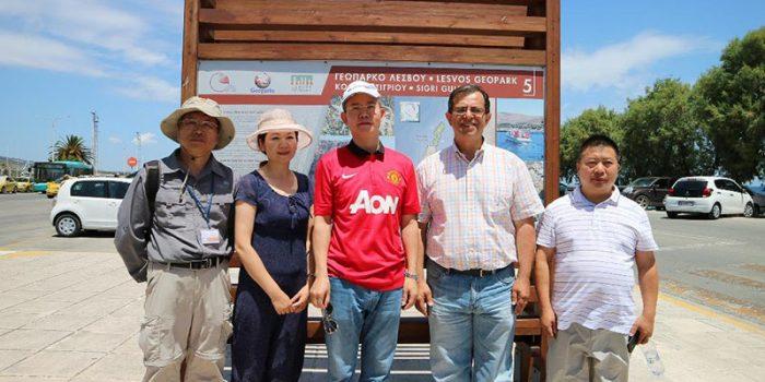 Υψηλόβαθμη αντιπροσωπεία από την περιοχή Suining της Κίνας  στο Απολιθωμένο Δάσος Λέσβου