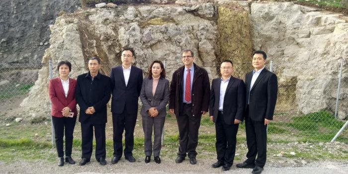 Υψηλόβαθμη αντιπροσωπεία από το Δήμο Suining της Κίνας  στη Λέσβο και το Απολιθωμένο Δάσος