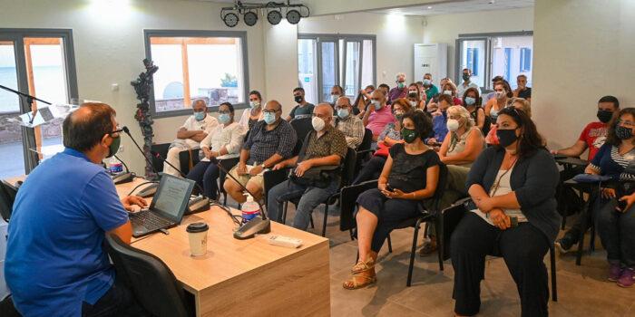 <strong>Επιτυχημένη εκδήλωση στη Πολιτιστικό Κέντρο Σκάλας Ερεσού</strong> «ΥΓΡΟΤΟΠΟΙ ΤΗΣ ΔΥΤΙΚΗΣ ΛΕΣΒΟΥ»</br>Κυριακή 8 Αυγούστου 2021</br>Εκδήλωση στο Πολιτιστικό Κέντρο Μεσοτόπου